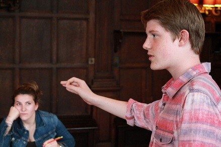 Oxford summer school student at the Debating Masterclass